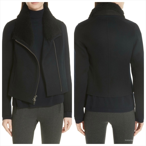 vince Jackets & Blazers - Vince Double Face Genuine Shearling Collar Jacket